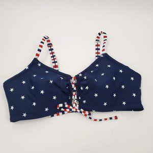 Cacique American Flag Stars Stripes Bikini Top 18